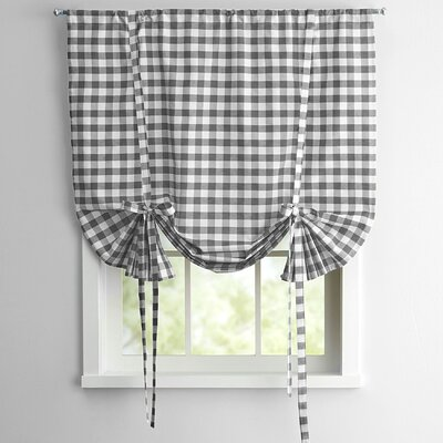 Buffalo Check Decorative Tie-Up Shade Color: Grey