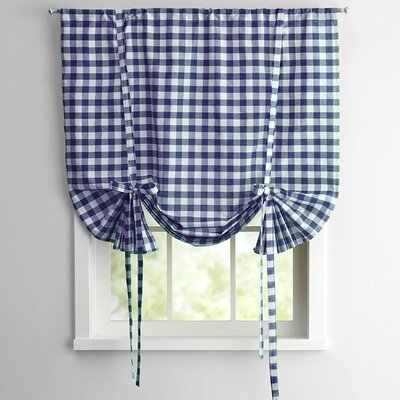 Buffalo Check Decorative Tie-Up Shade Color: Navy