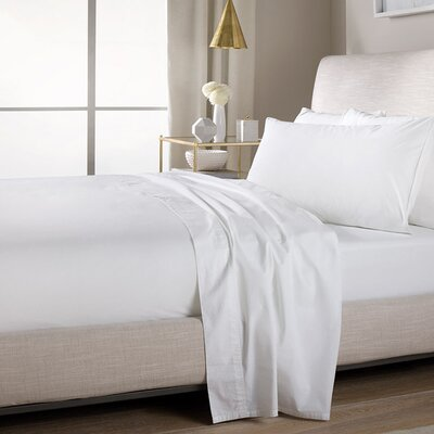 Ultra Soft Flat Sheet Color: White, Size: Queen