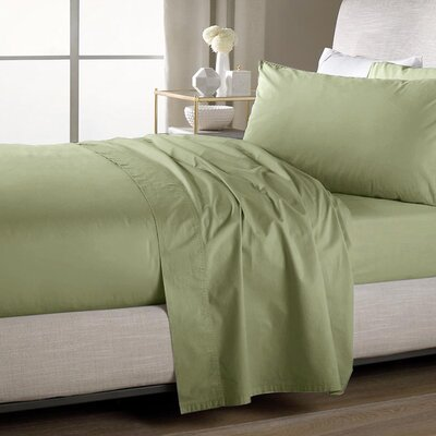 Ultra Soft Flat Sheet Color: Sage, Size: Queen