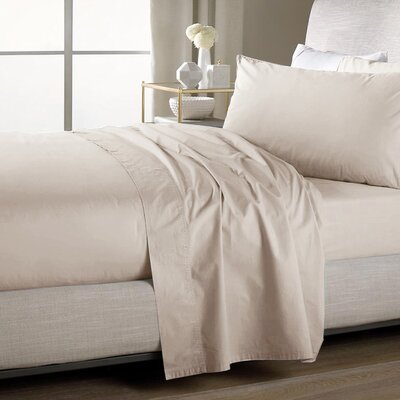 Ultra Soft Flat Sheet Color: Cream, Size: King