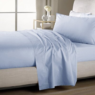 Ultra Soft Flat Sheet Color: Aqua, Size: Queen