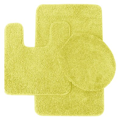 Florence 3 Piece Bath Rug Set Color: Buttercream