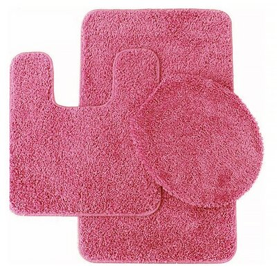 Florence 3 Piece Bath Rug Set Color: Fuschia