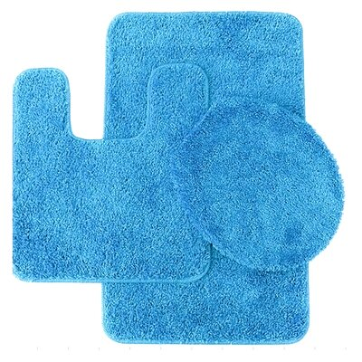 Florence 3 Piece Bath Rug Set Color: Light Blue