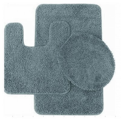 Florence 3 Piece Bath Rug Set Color: Steel Blue
