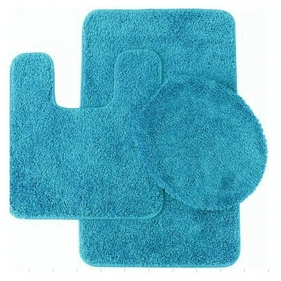 Florence 3 Piece Bath Rug Set Color: Turquoise