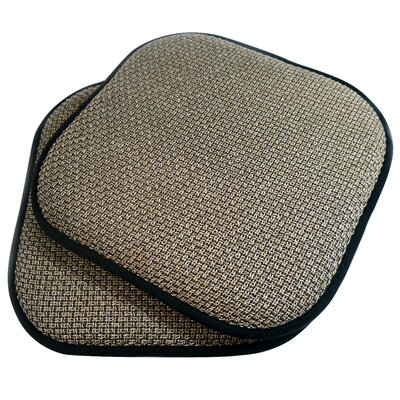 Memory Foam Dining Chair Cushion Fabric: Black