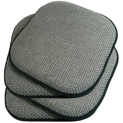 Memory Foam Dining Chair Cushion Fabric: Grey