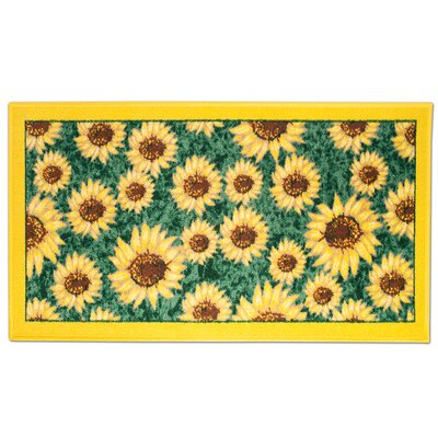 Sunflower Rectangle Kitchen Mat