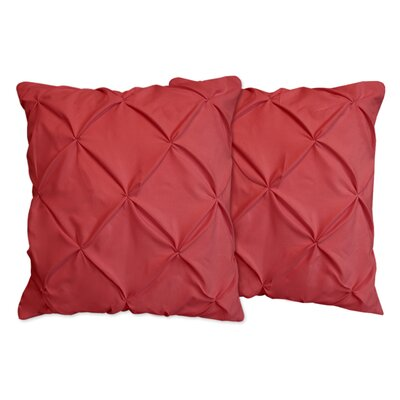 Hudson Pinch Pleat Pintuck Throw Pillow Color: Burgundy