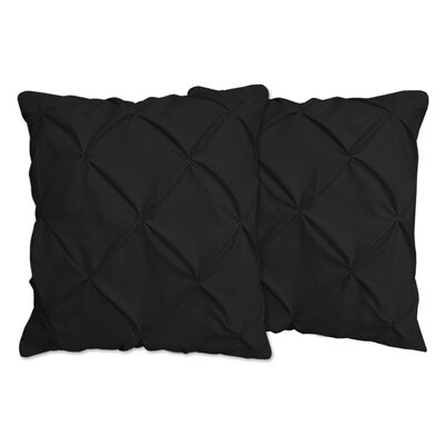 Hudson Pinch Pleat Pintuck Throw Pillow Color: Black