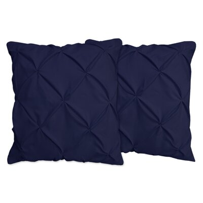 Hudson Pinch Pleat Pintuck Throw Pillow Color: Navy