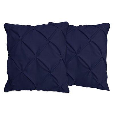 Hudson Pinch Pleat Pintuck Throw Pillow Color: Navy