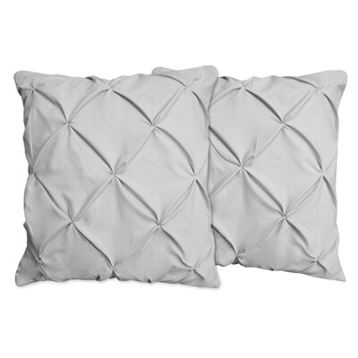Hudson Pinch Pleat Pintuck Throw Pillow Color: Gray