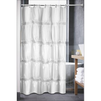Luxurious Rhinestone Shower Curtain Color: Black