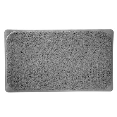 Loofah Premium Woven Non Slip Bathtub Shower Mat Color: Gray