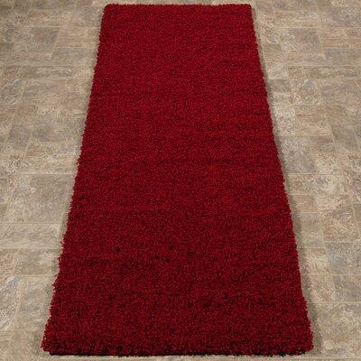 Cozy Red Indoor/Outdoor Area Rug Rug Size: Runner 27 x 8