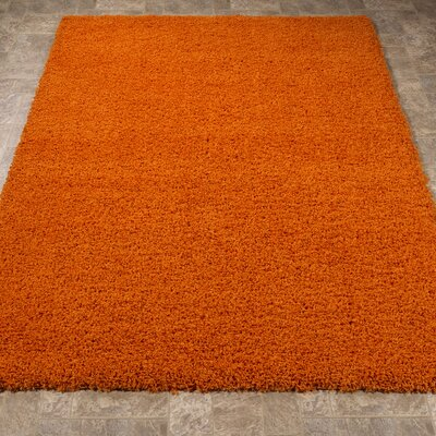 Cozy Orange Indoor/Outdoor Area Rug Rug Size: 67 x 93