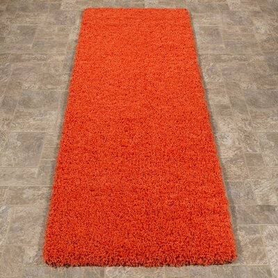 Cozy Orange Indoor/Outdoor Area Rug Rug Size: Runner 27 x 8