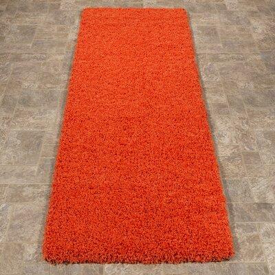 Cozy Orange Indoor/Outdoor Area Rug Rug Size: Runner 2 x 5