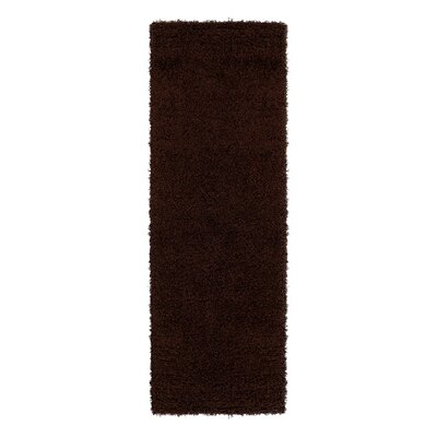 Cozy Brown Indoor/Outdoor Area Rug Rug Size: Runner 27 x 8