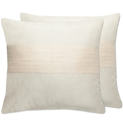 Holly Tuxedo Pleat Throw Pillow Color: Cream