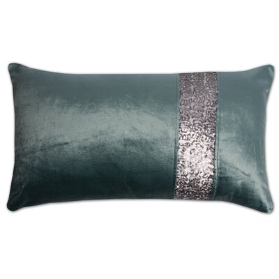 Luxury Zippered Pillow Cover Color: Teal