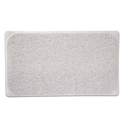 Loofah Premium Woven Non Slip Bathtub Shower Mat Color: White