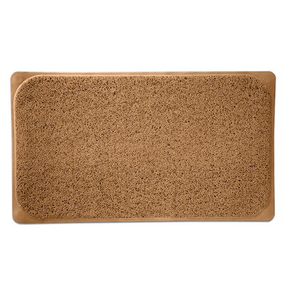 Loofah Premium Woven Non Slip Bathtub Shower Mat Color: Mocha