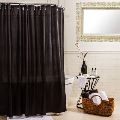 Water Proof Microfiber Shower Curtain Color: Black