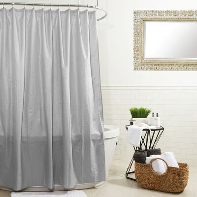 Water Proof Microfiber Shower Curtain Color: Silver