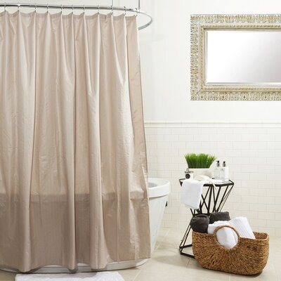 Water Proof Microfiber Shower Curtain Color: Taupe
