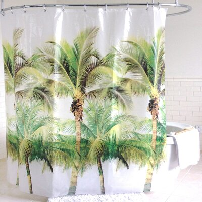 Avtepe Palm Tree PEVA Shower Curtain