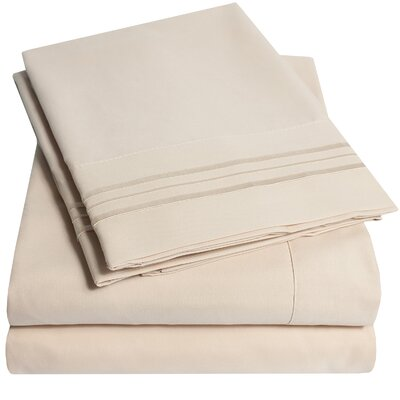 Garrin Ultra Soft 1500 Thread Count 4 Piece Sheet Set