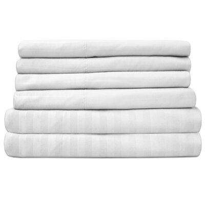 Wasserhund 1500 Thread Count Sheet Set Size: Queen, Color: White