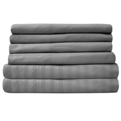 Wasserhund 1500 Thread Count Sheet Set Size: King, Color: Silver