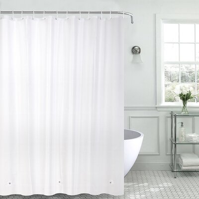 Christi Heavyweight 8 Gauge 100% PEVA Shower Curtain Color: White
