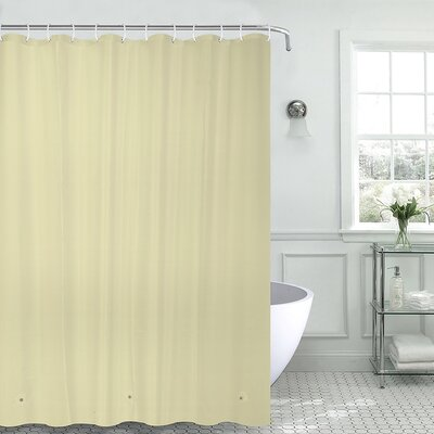 Christi Heavyweight 8 Gauge 100% PEVA Shower Curtain Color: Beige