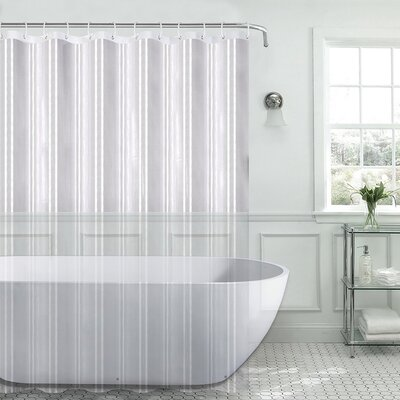 Christi Heavyweight 8 Gauge 100% PEVA Shower Curtain Color: Clear