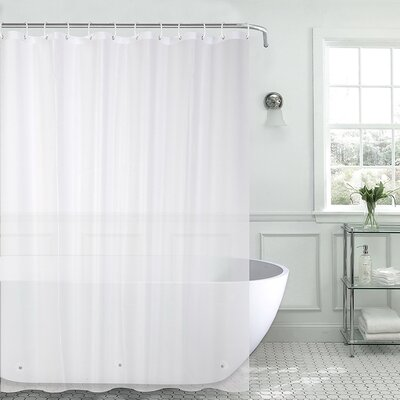 Christi Heavyweight 8 Gauge 100% PEVA Shower Curtain Color: Frosted Clear
