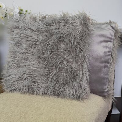 Robins Decorative Throw Pillow Color: Silver