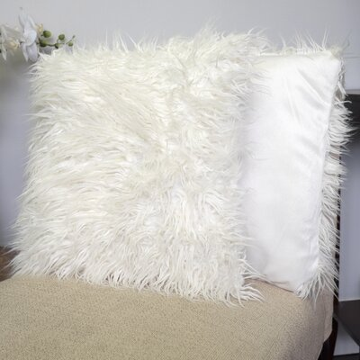 Robins Decorative Throw Pillow Color: White