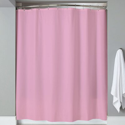 Carthage 6 Gauge Hotel Weight Vinyl Shower Curtain Color: Rose