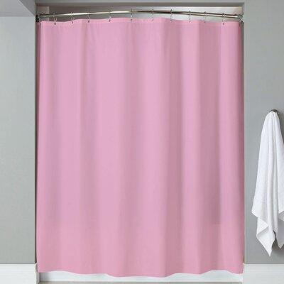 Carthage 6 Gauge Hotel Weight Vinyl Shower Curtain Color: Rose
