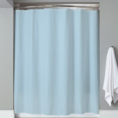 Carthage 6 Gauge Hotel Weight Vinyl Shower Curtain Color: Blue