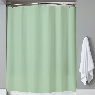 Carthage 6 Gauge Hotel Weight Vinyl Shower Curtain Color: Jade