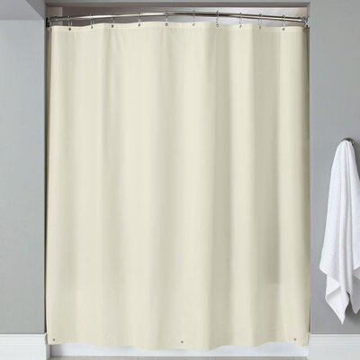Wellhead 8 Gauge Heavyweight Textured Vinyl Shower Curtain Color: Beige