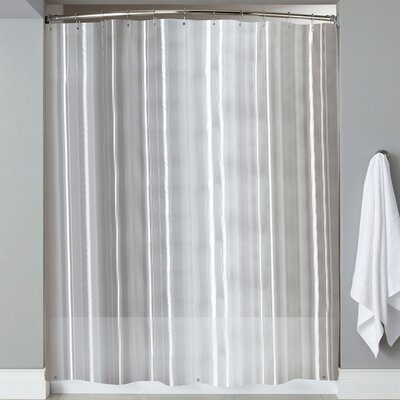 Wellhead 8 Gauge Heavyweight Textured Vinyl Shower Curtain Color: Clear