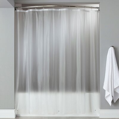 Wellhead 8 Gauge Heavyweight Textured Vinyl Shower Curtain Color: Frosted Clear